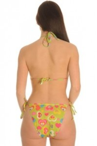 Love - Green - Halterneck Tan Through Bikini