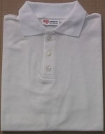 Men's White Tan Through Polo Shirt