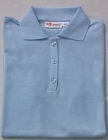 Men's Heaven Blue Tan Through Polo Shirt