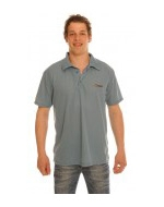 Men's Dark Blue Tan Through Polo Shirt