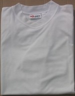 Men's White Tan Through T-Shirt