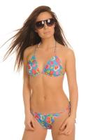 Love - Blue - Halterneck Tan Through Bikini