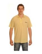 Men's Yellow Tan Through Polo Shirt