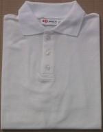 Men's White Tan Through Polo Shirt