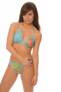 Hawaiin Orchard - Halterneck Tan Through Bikini